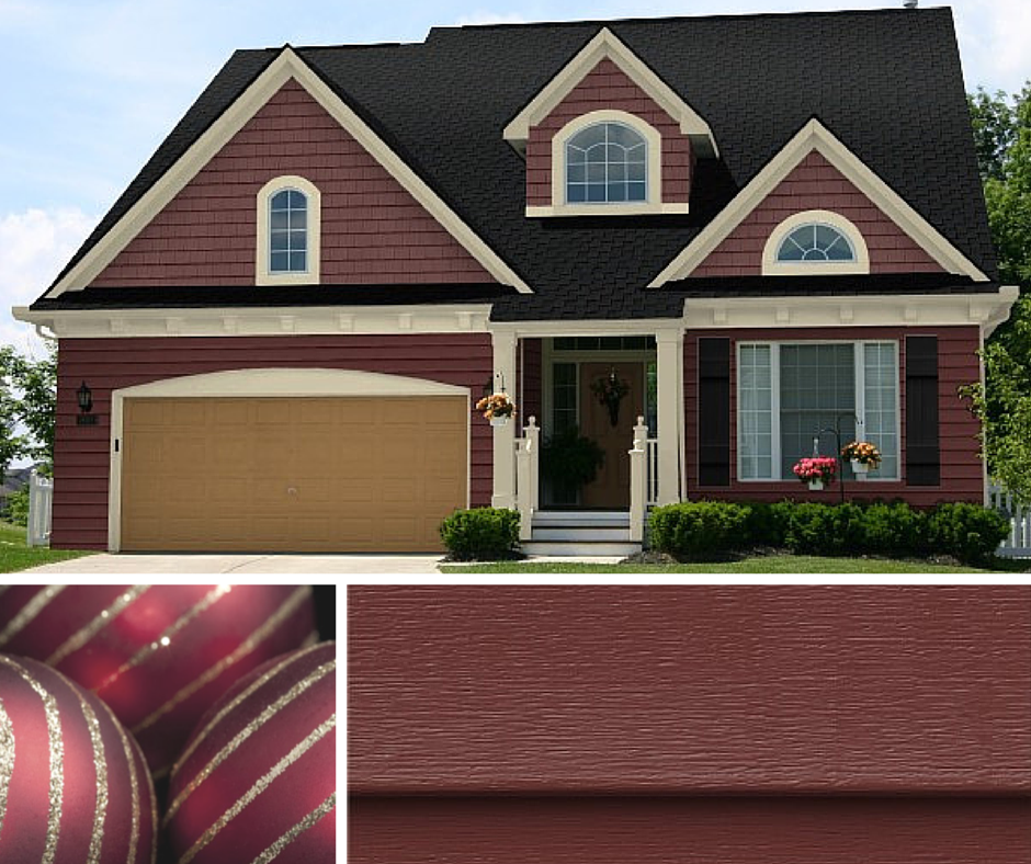 Opulent Rubies With Gold Glitter Is Pulled Off In This Home With Craneboard 6 And Portsmouth Siding Colors For Houses Siding Options House Exterior