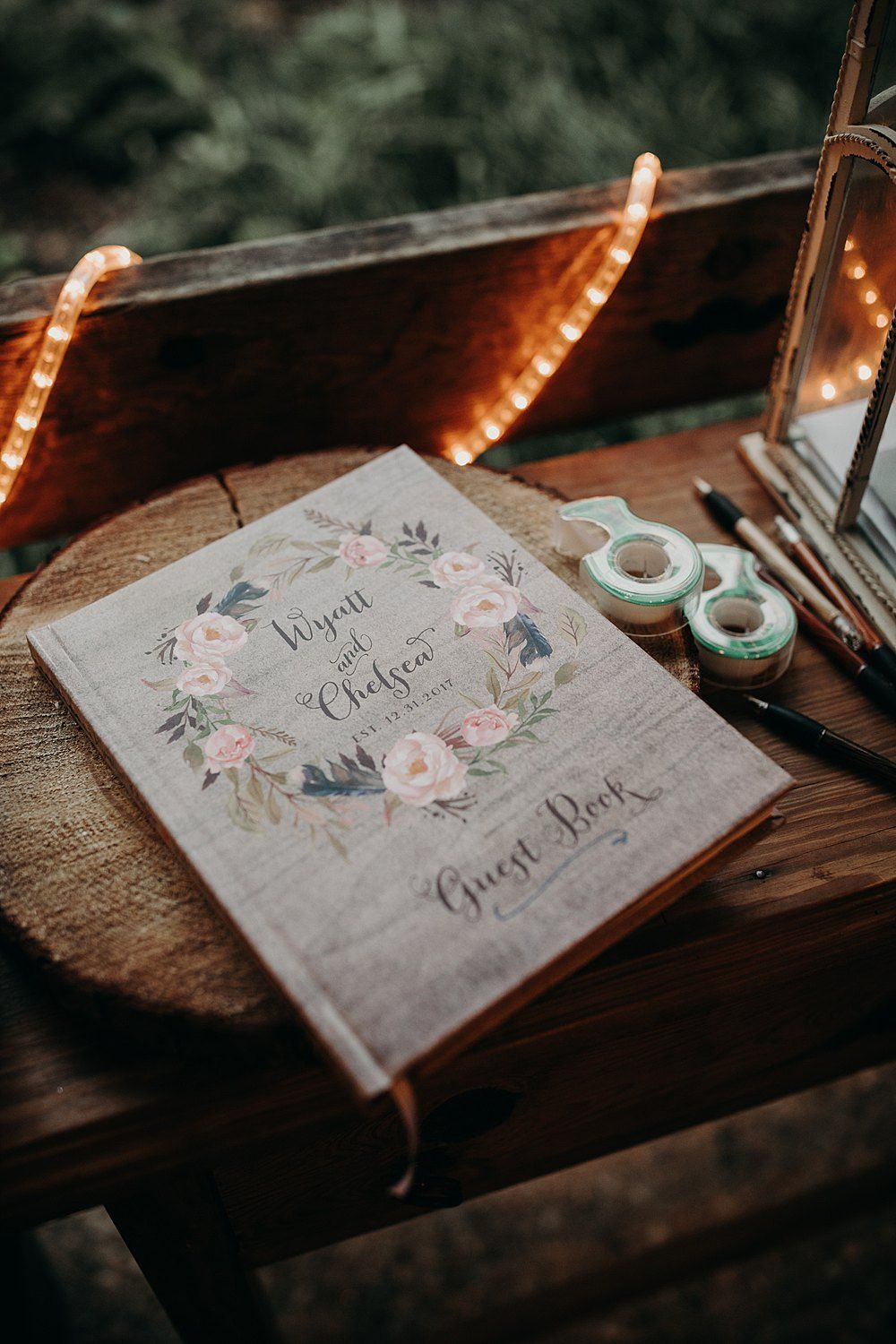 Wedding Guest Book At An Intimate In Austin Tx
