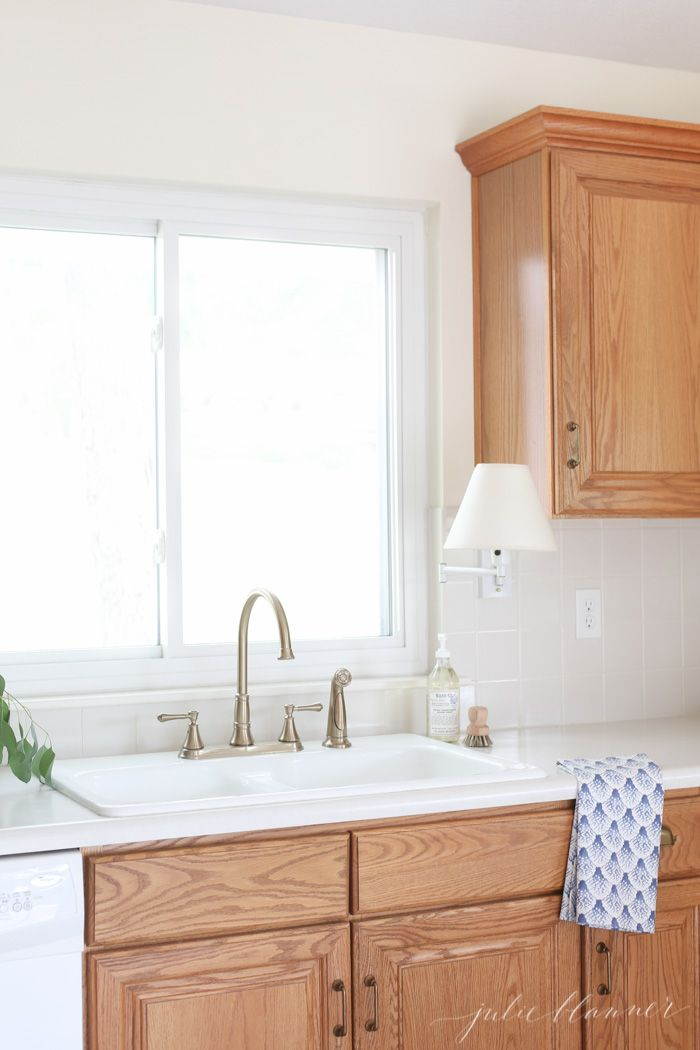 how to update oak kitchen cabinets on a budget. | Kitchen ...