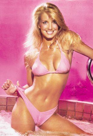 Sensual Blond with Black Bikini Poster