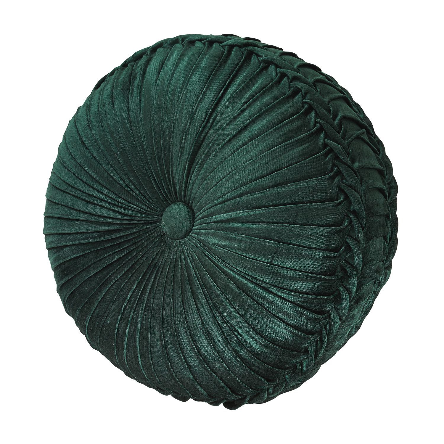 emerald green tufted round pillow
