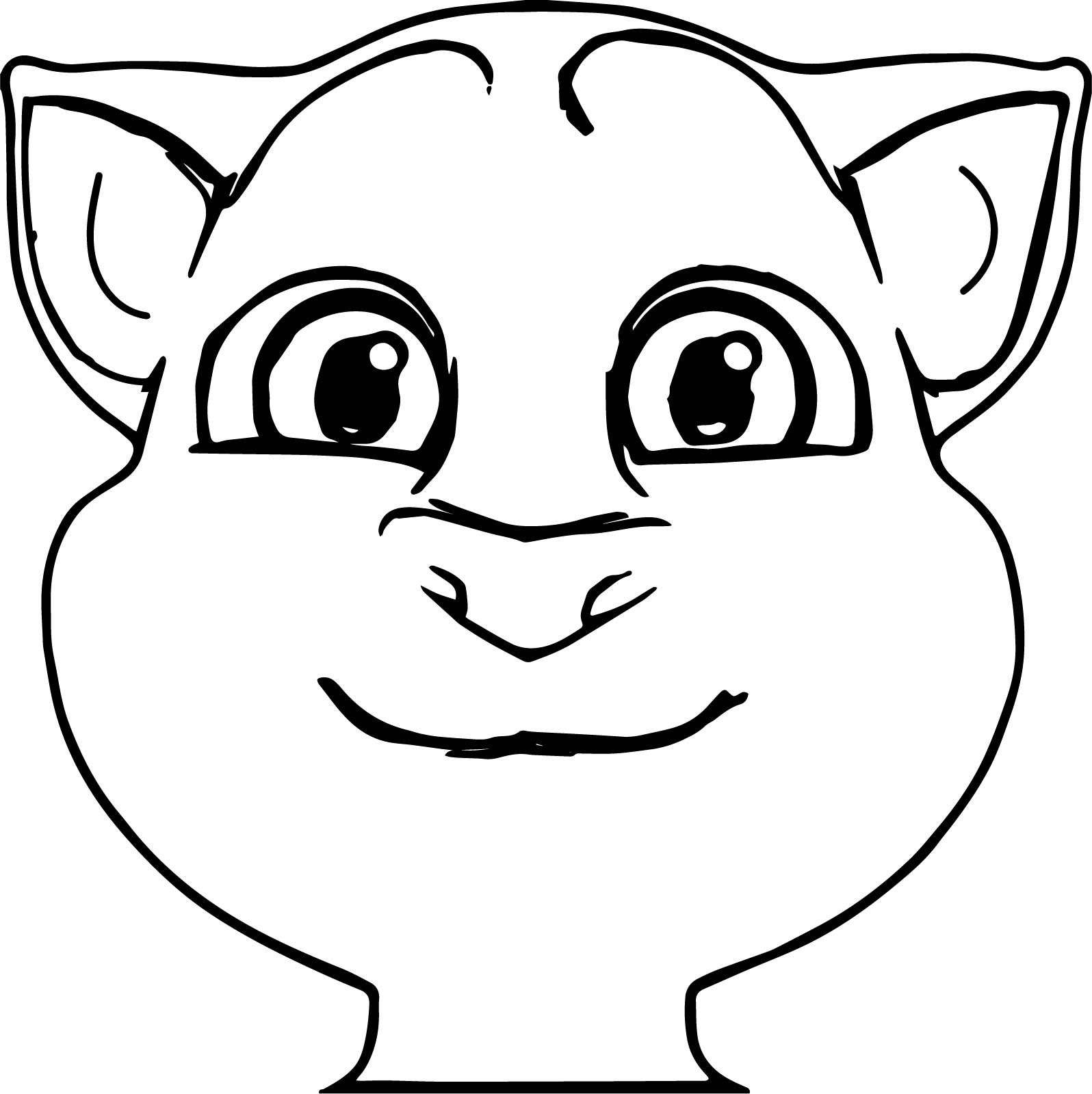Front Talking Tom Cat Coloring Page In 2020 Cat Coloring Page Coloring Pages Talking Tom