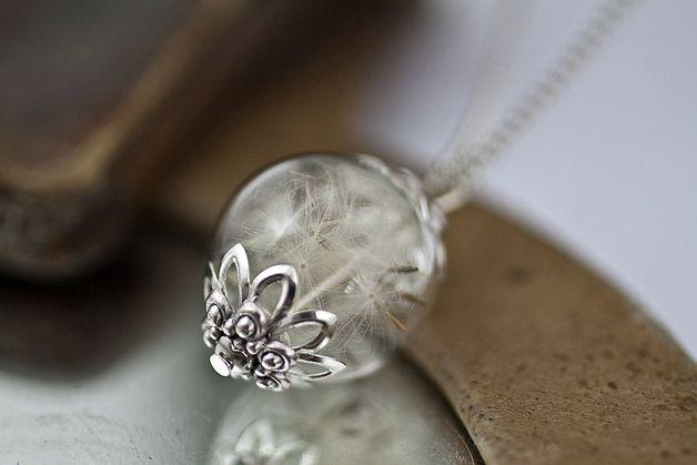 Ketten lang - Echte Pusteblumen WÜNSCH DIR WAS Kette - ein Designerstück von VillaSorgenfrei bei DaWanda