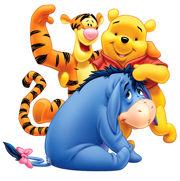 winnie the pooh eeyore and tiger transparent png clip art image rh pinterest com