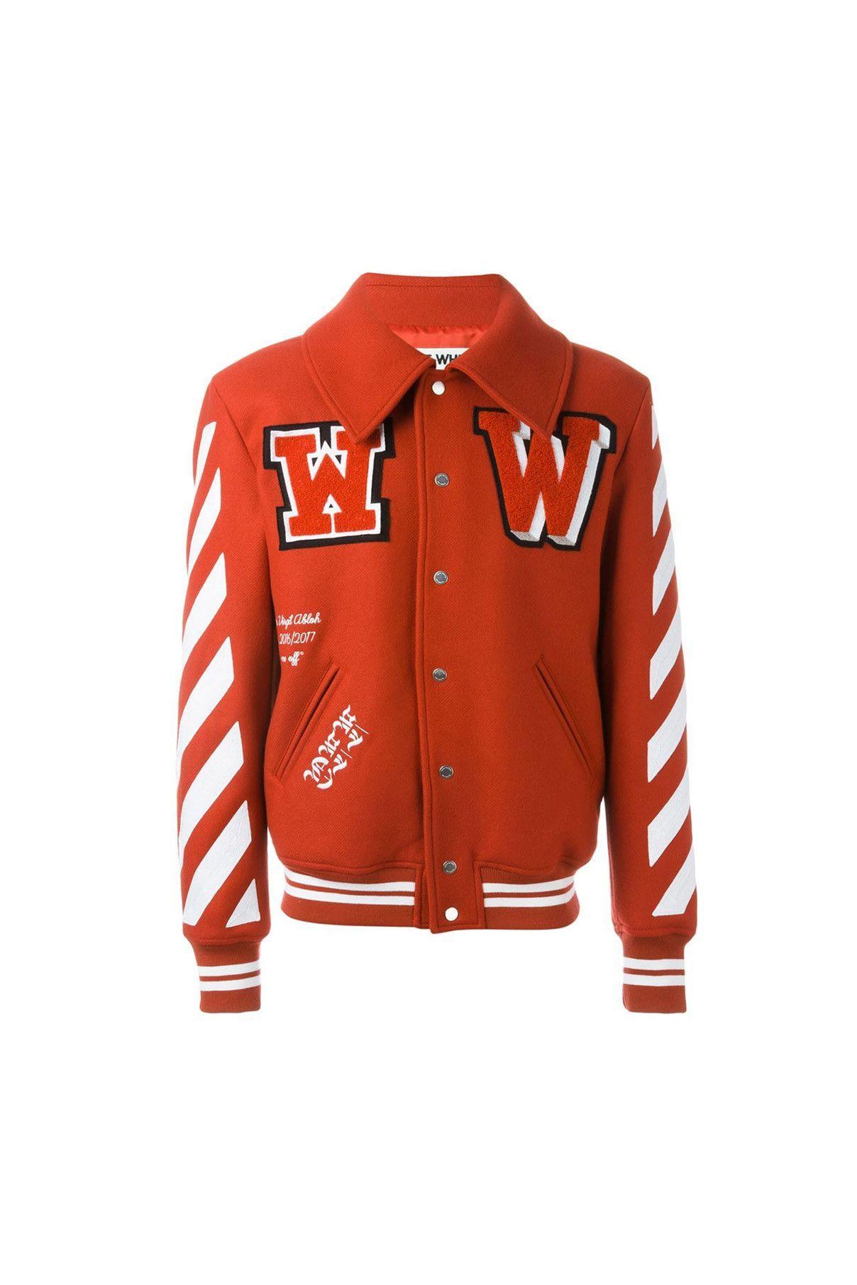 Off White 01 Clothing 07 Outerwear 01 Jacket 03 Varsity Patched Letterman Jacket Off White Varsity Jacket Varsity Jacket Mens Jackets [ 1812 x 1208 Pixel ]