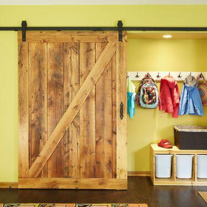 Pocket Door Alternative sliding barn door for kids' room closet to save space. easy