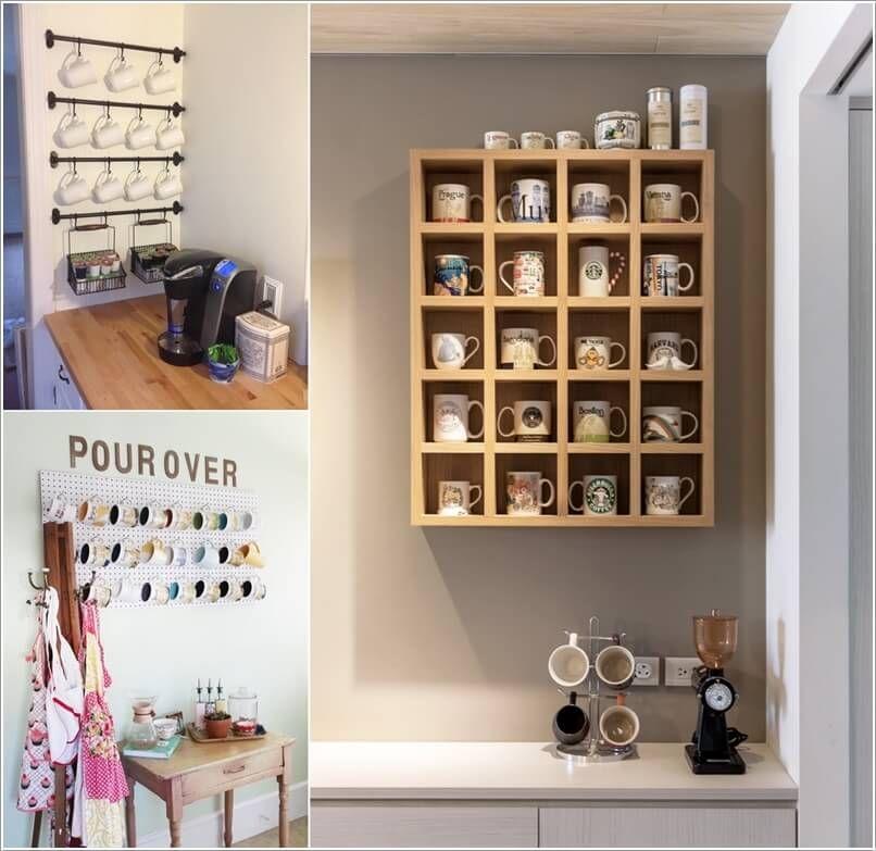 Cool And Creative Mug Storage Ideas For Your Kitchen Mug Storage