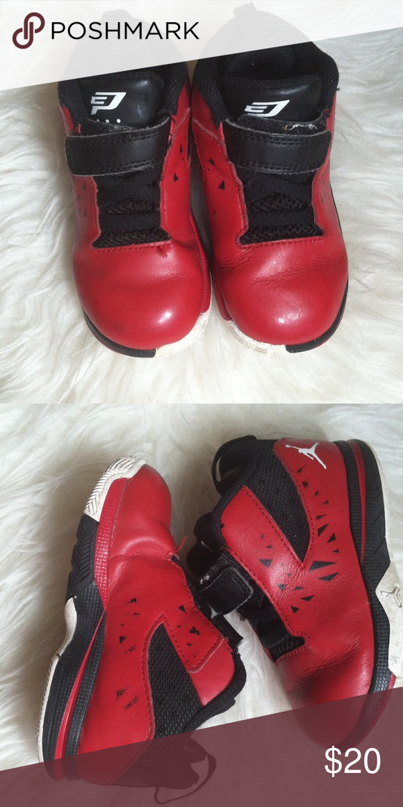 reputable site e21a6 1b88f Jordán shoes for toddler. Black and red , toddler 7c Jordan ...