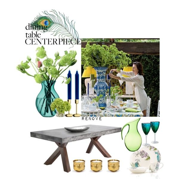 """Dining Table Centerpiece"" by rere-renove on Polyvore"