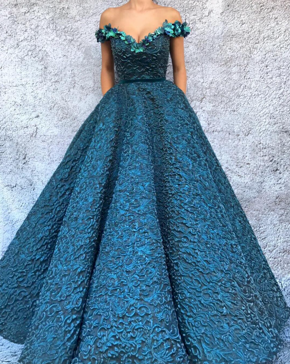 Bright Cerulean TMD Gown | For the princess 2 | Pinterest | Cerulean ...