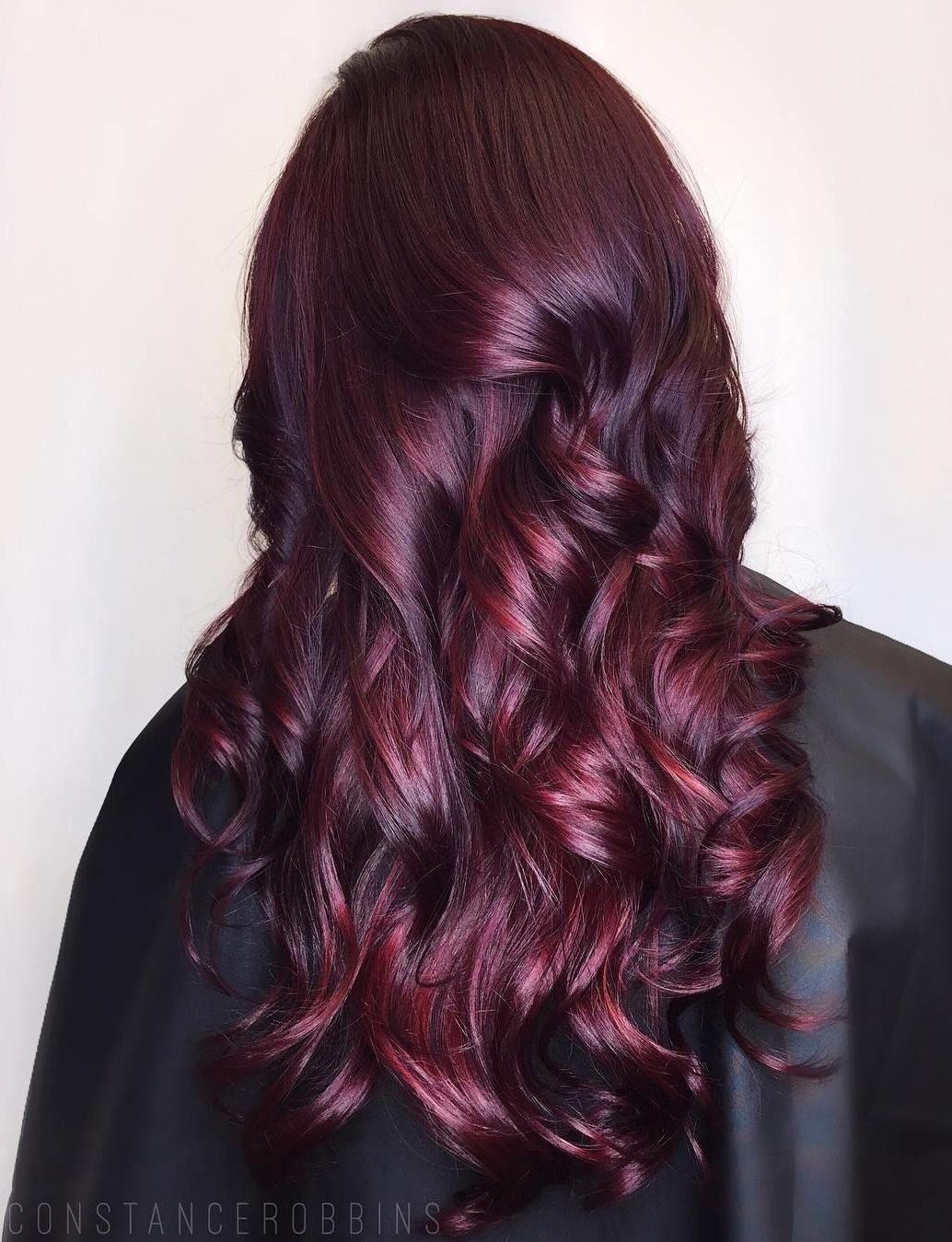 45 Shades of Burgundy Hair: Dark Burgundy, Maroon ...