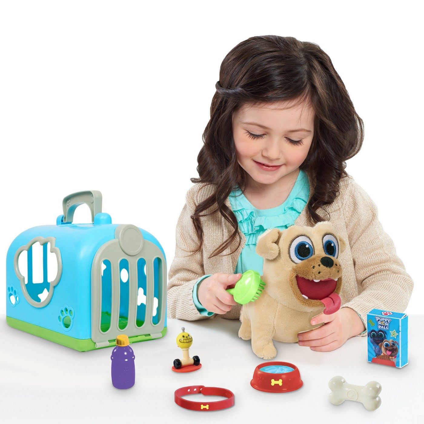 Puppy Dog Pals 9pc Rolly Groom Pet Carriers Dogs And Puppies Cool Toys For Girls