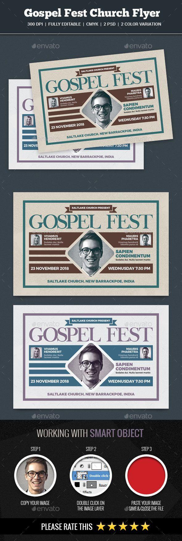 Gospel Fest Church Flyer | Flyer template, Churches and Template