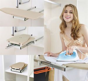 Collapsible Pull Out Ironing Board Slide Out Swivel Sytle For Wardrobe Drawer Uk Pull Out Ironing Board Wardrobe Drawers Drawers