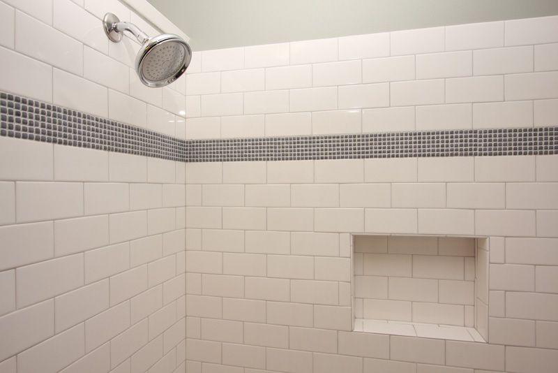 Subway Tile Bath Subway Tile With Mosaic Accent Craftsman