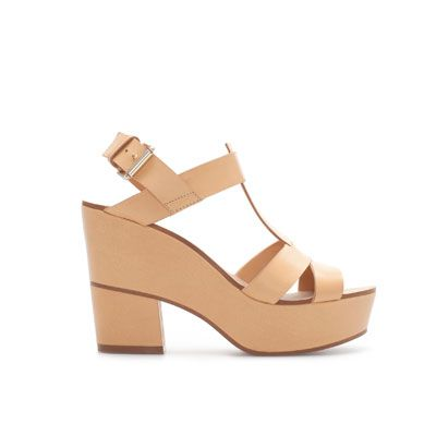 Mujer Sandalia Plataforma Tacón Forrada Piel Zapatos Sandalias roWBCxde