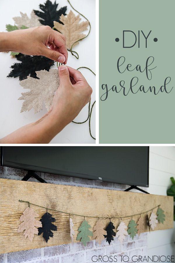 Easy DIY Burlap Leaf Garland - unOriginal Mom