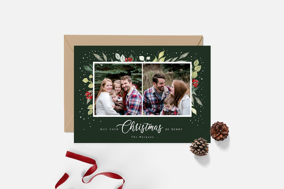 Christmas Card Template Cd167 Christmas Card Template Holiday Photo Cards Card Template