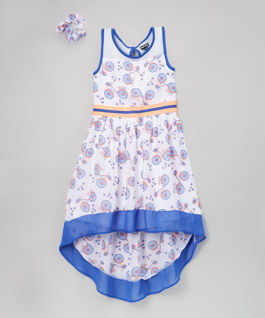 Look at this White & Blue Park Place Dress Set on #zulily today!