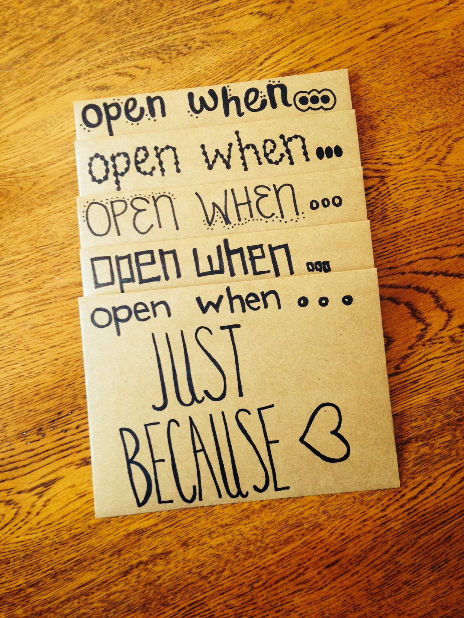 Open When Letters Perfect t for boyfriend or girlfriend