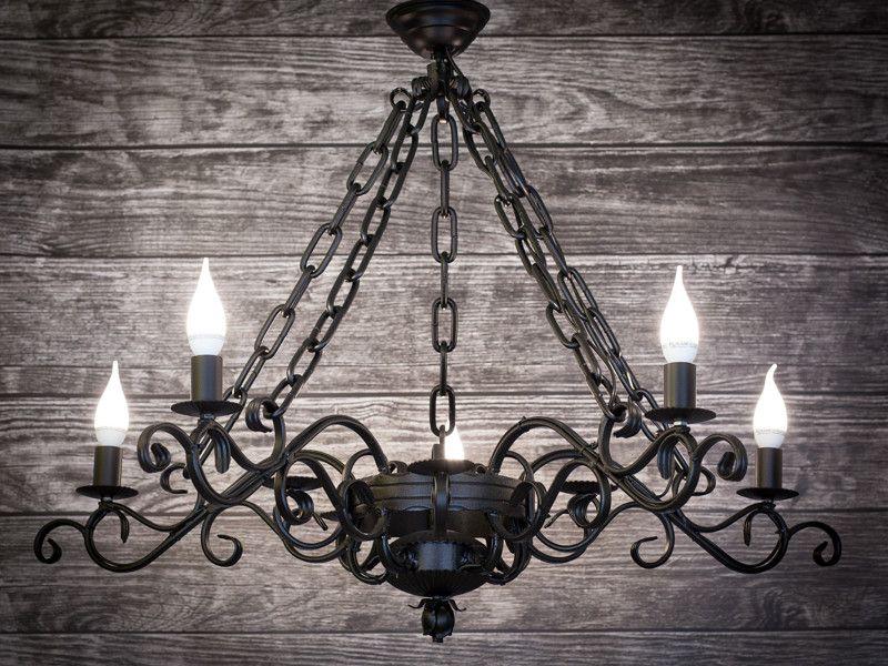 Kronleuchter Eisen Für Kerzen ~ Klassischer schmiede kronleuchter rustikale lampe