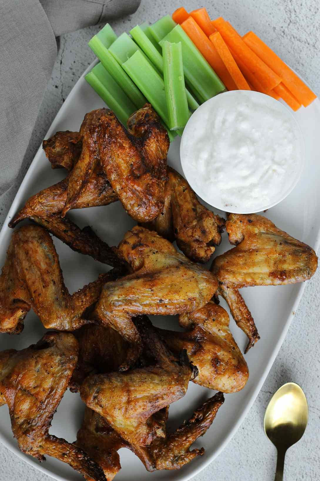 salt and vinegar wings recipe in 2020 salt vinegar wings recipe stuffed peppers cheese dipping sauce pinterest