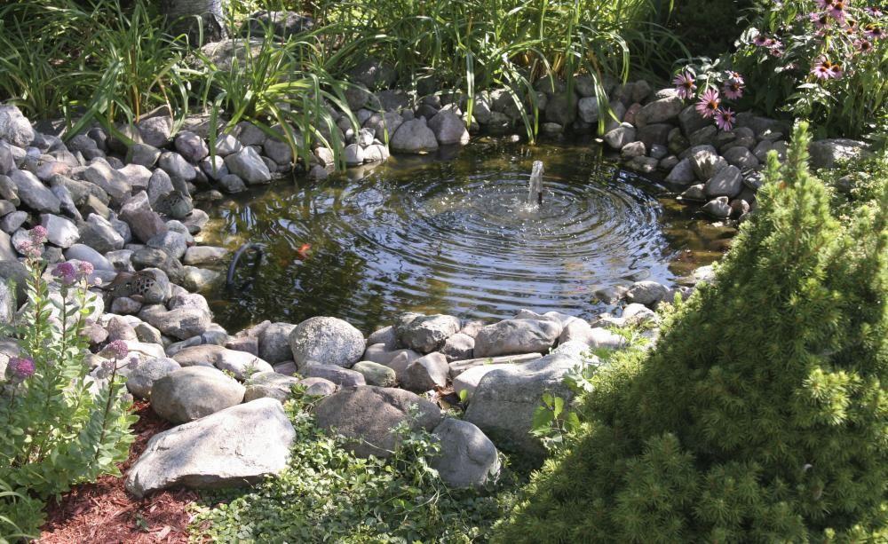 Gestaltungsideen für kleine Gärten Garden water features, Water - schoner garten mit wenig geld