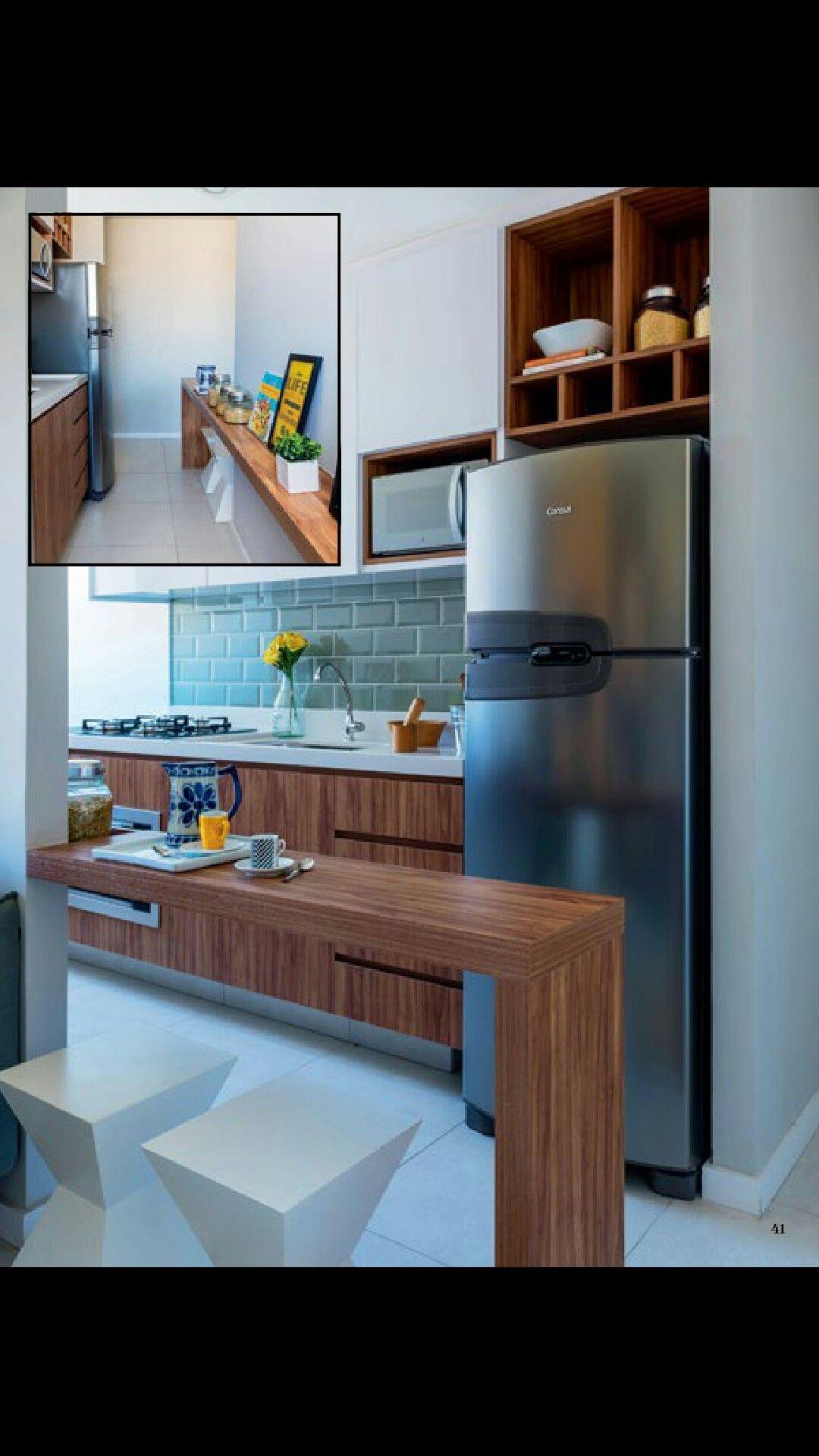 Bancada Dividindo A Sala E Se Estendendo At A Cozinha Casa
