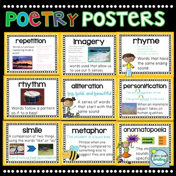 Poetry Posters Poetry Elements With Images Poetry Posters