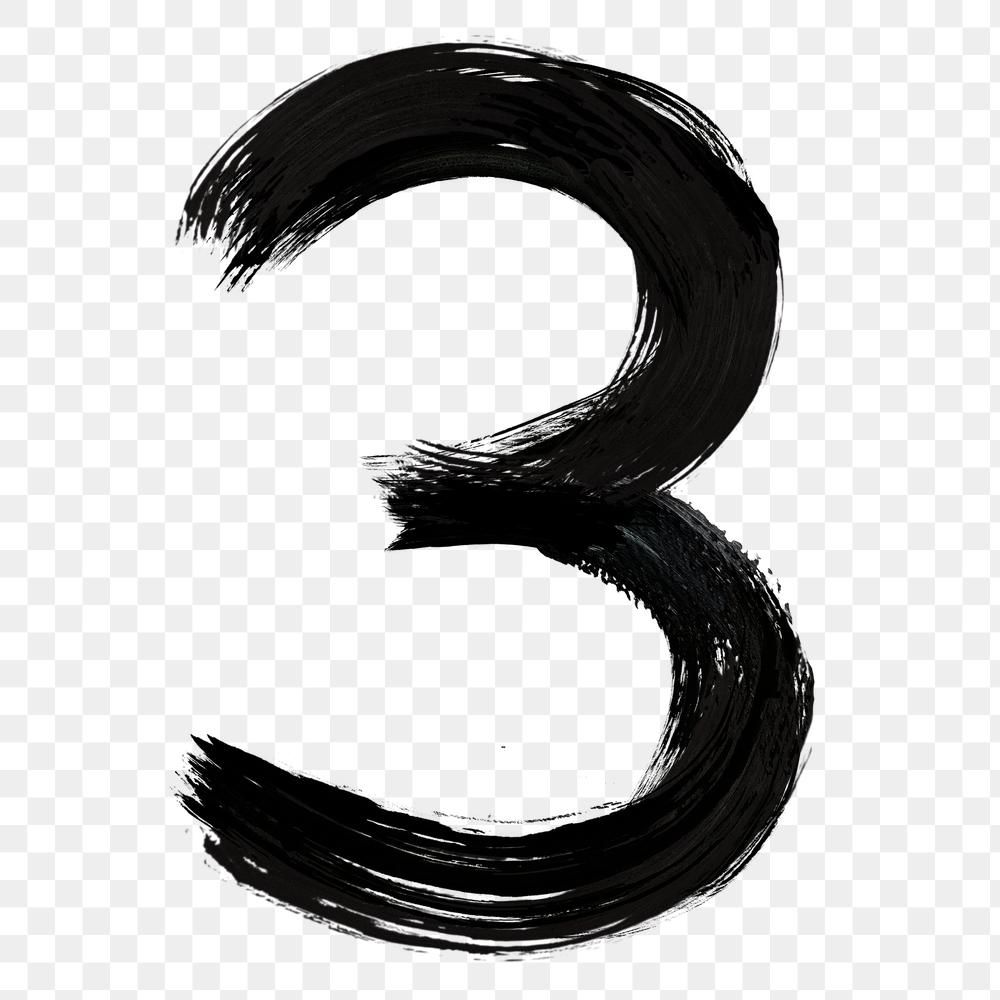 Number 3 Png Grunge Hand Lettering Typography Free Image By Rawpixel Com Mind Hand Lettering Png Free Illustrations