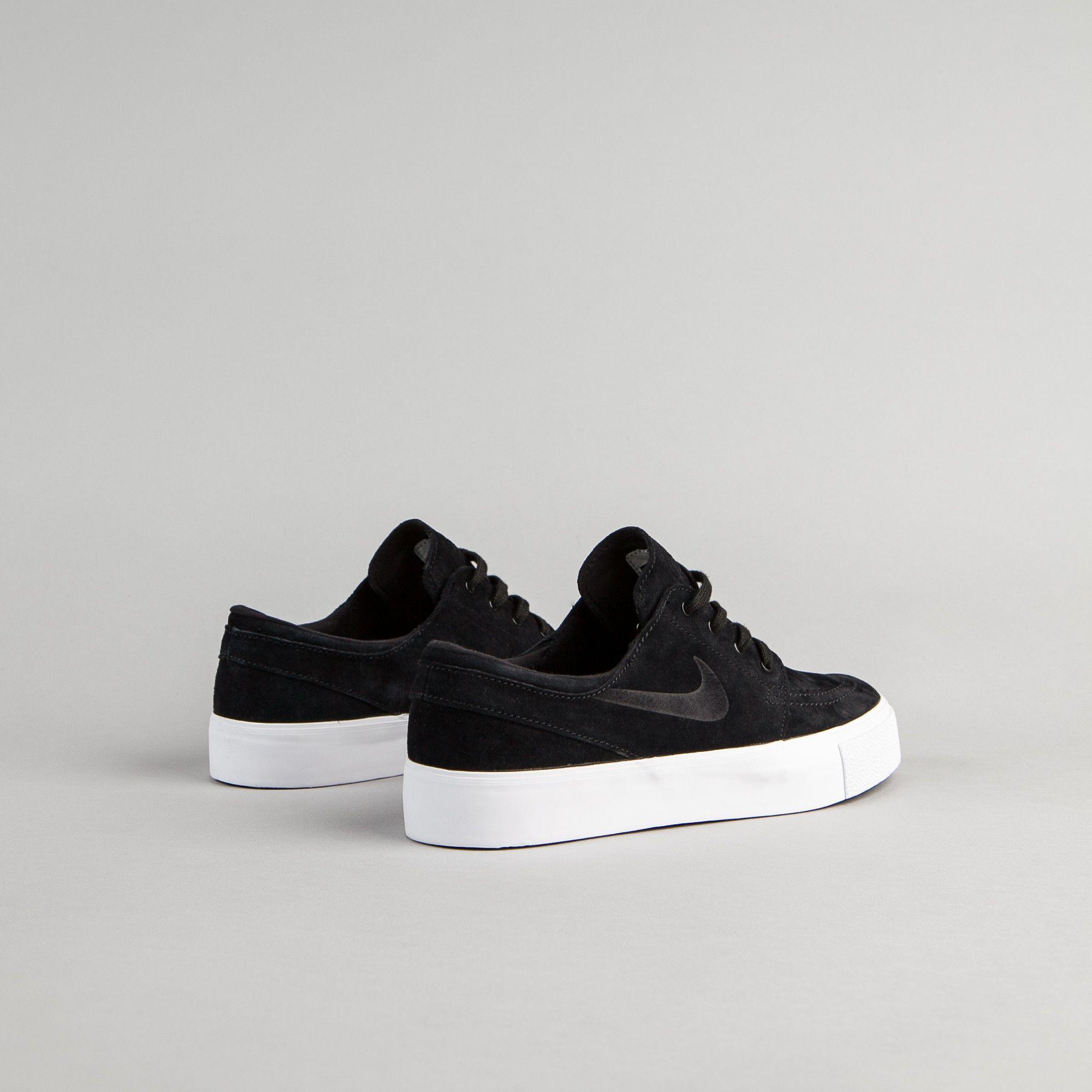 Nike SB Stefan Janoski Premium HT Shoes - Black / Black - White