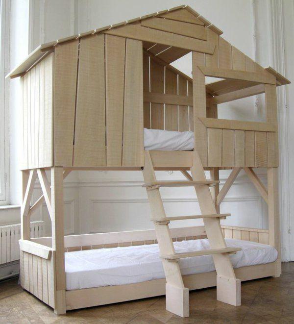 le plus beau lit cabane pour votre enfant lit maison maisons en bois et beaux lits. Black Bedroom Furniture Sets. Home Design Ideas