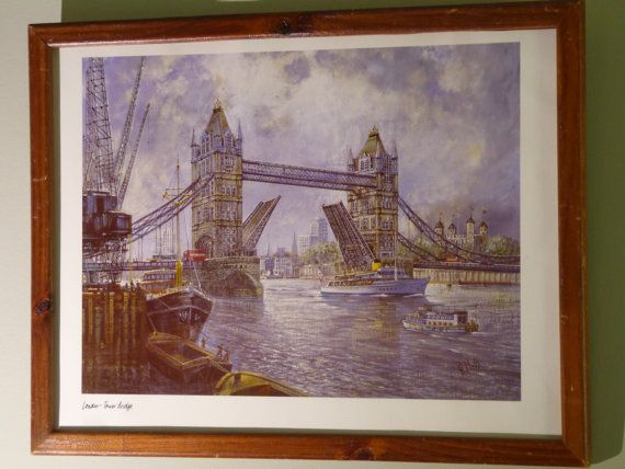 London Tower Bridge H Moss Original Framed By