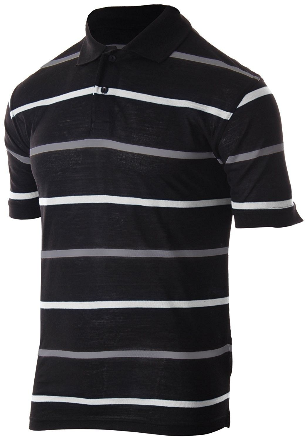 dd386c1de Men's Classic Fit Striped Polo T-Shirt Short Sleeve (Many Colors Available)  - 1811 - White | Grey - C8180W30NEY,Men's Clothing, Shirts, Polos #men # clothing ...