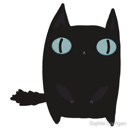 Fat Black Cat by Sophie Corrigan