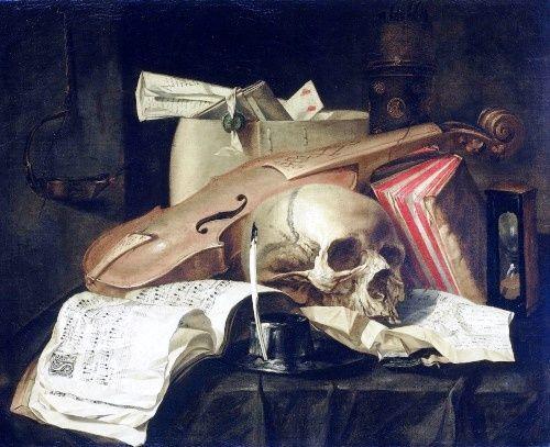 N.L. Peschier. Натюрморт Vanitas (суета сует) (1660)