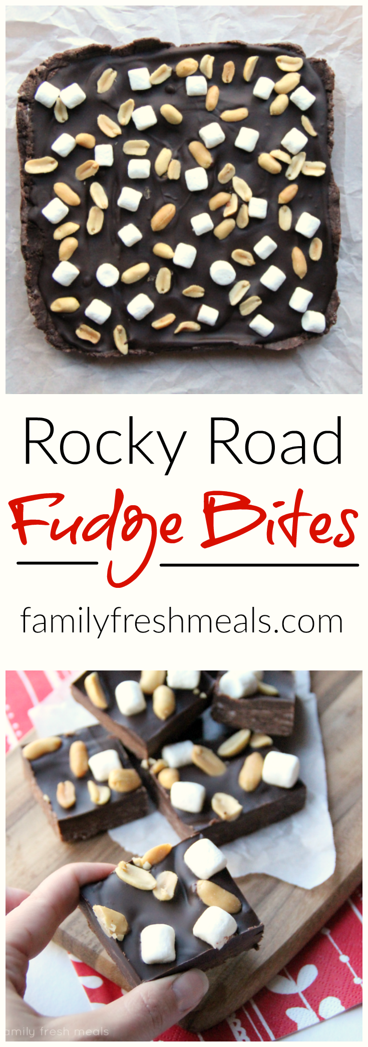 Rocky Road Fudge Bites - You won't believe how easy this is to make!