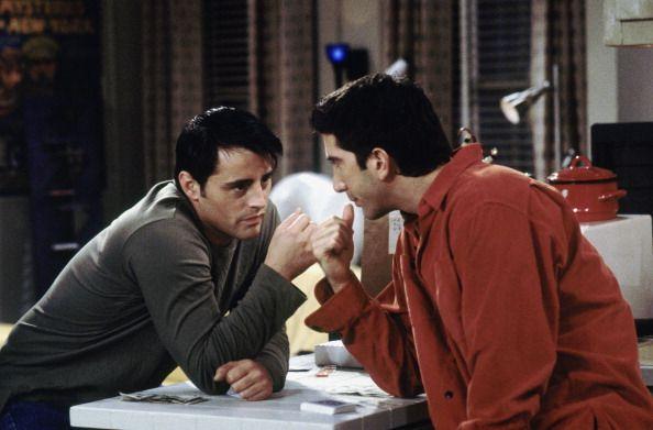 Joey and Ross ~ Friends Season 6, Episode 6: The One on the Last Night ~ Episode Stills ~ #friendstv #friendsseason6 #friendsepisodestills