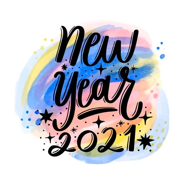 Happy New Year 2021 Lettering