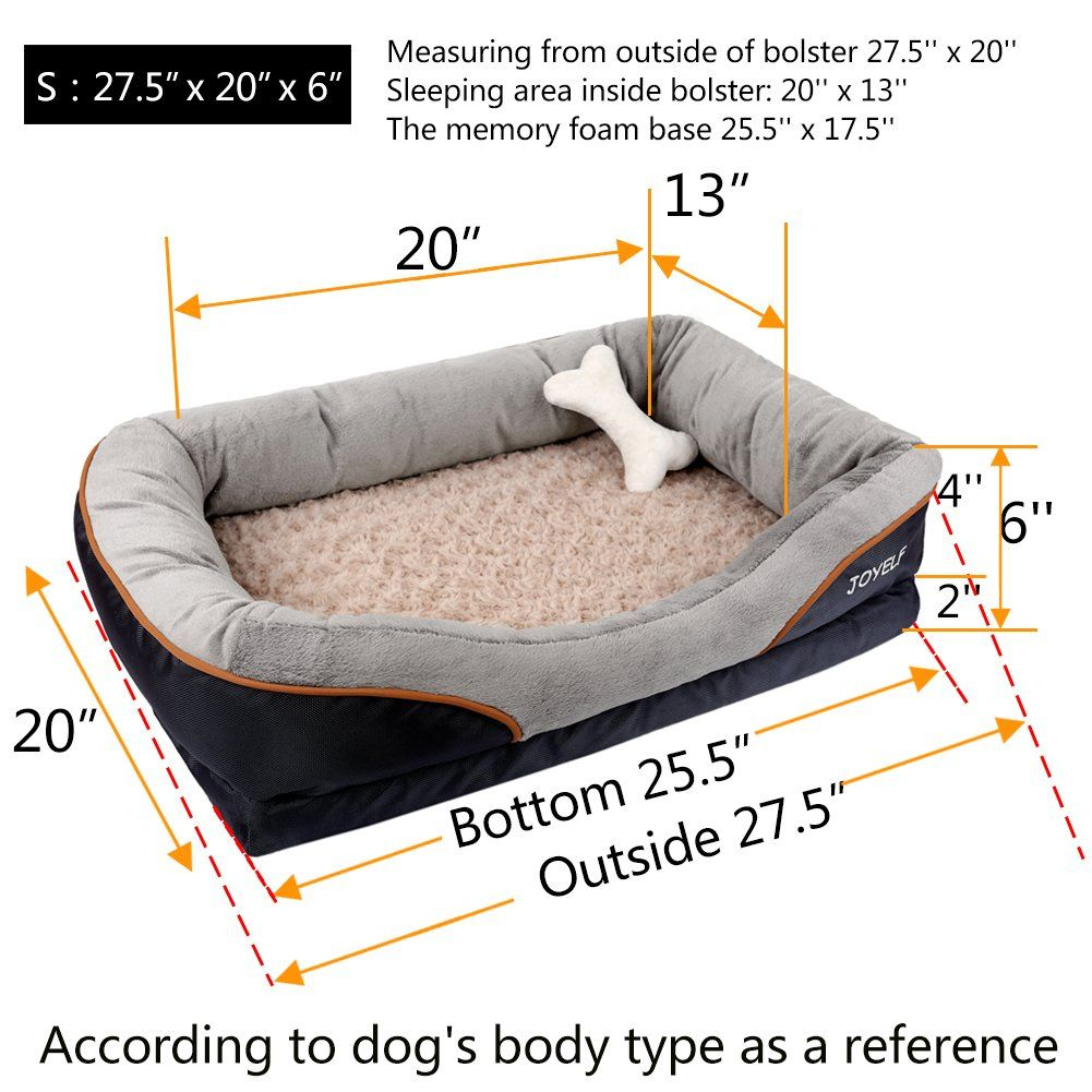 Joyelf Memory Foam Dog Bed Small Orthopedic Dog Bed And Sofa With Removable Washable Cover And Squeaker Toys As G Dog Sofa Bed Cool Dog Beds Orthopedic Dog Bed