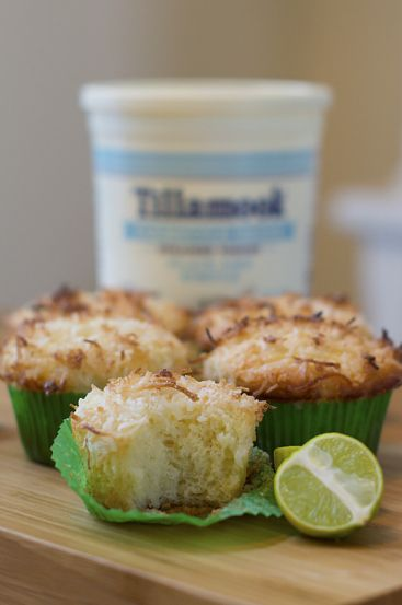 @Tillamook #Farmstyle Greek Yogurt Coconut Key Lime Muffins with Key Lime Glaze from @Fancy Shanty #recipe #FirstTaste