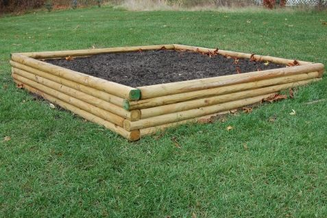 Raised Garden Bed Landscape Timber Edging Landscape Timbers