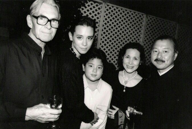 Tina Chow With Her Father And Mother Her Son And Her Husband Far