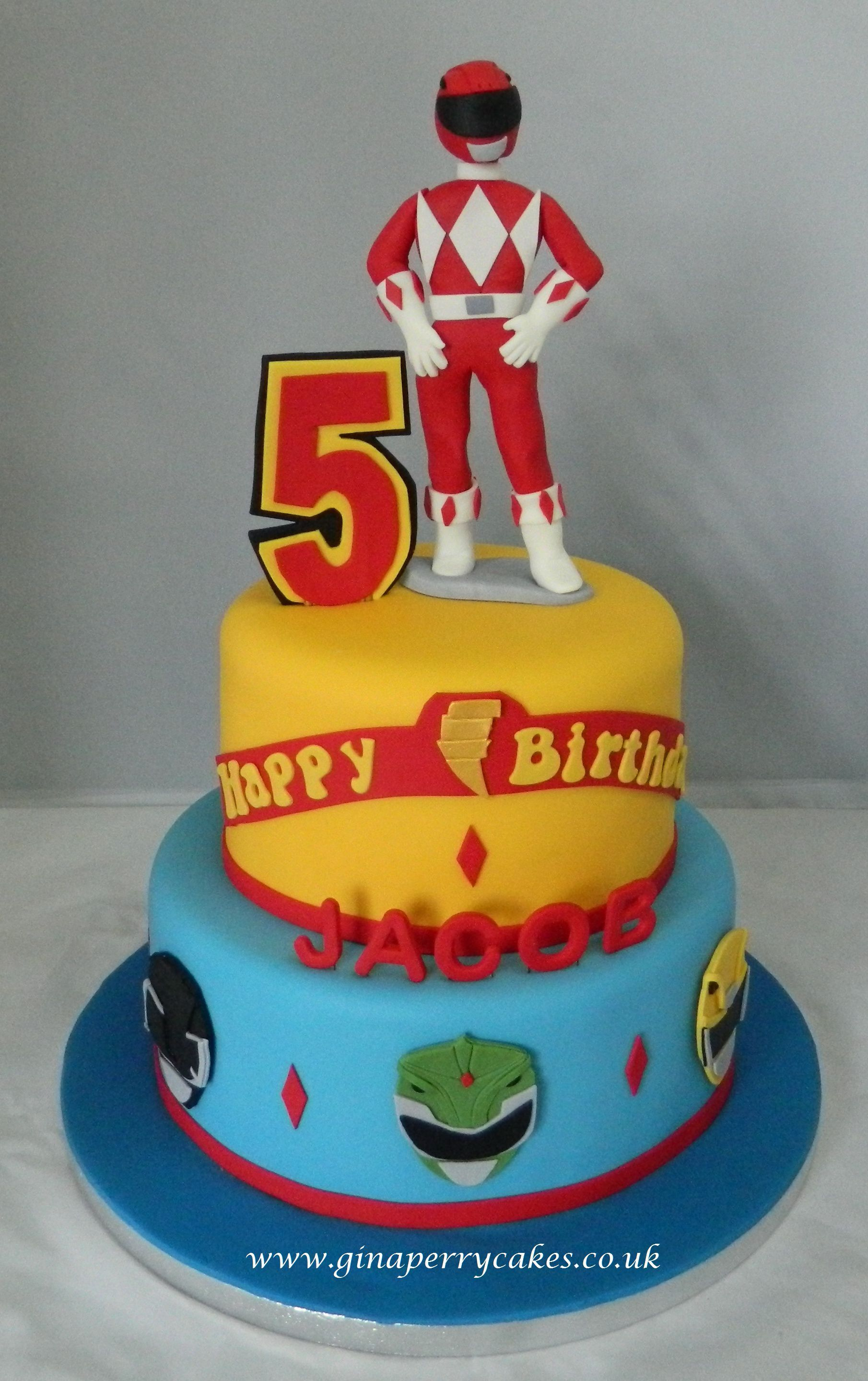 power rangers cake ideas power ranger for a 5 year baby b 6740