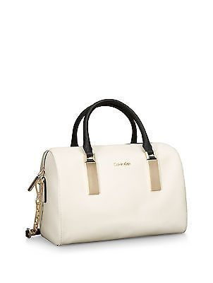 Calvin Klein Scarlett Sleek Barrel Satchel Handbag