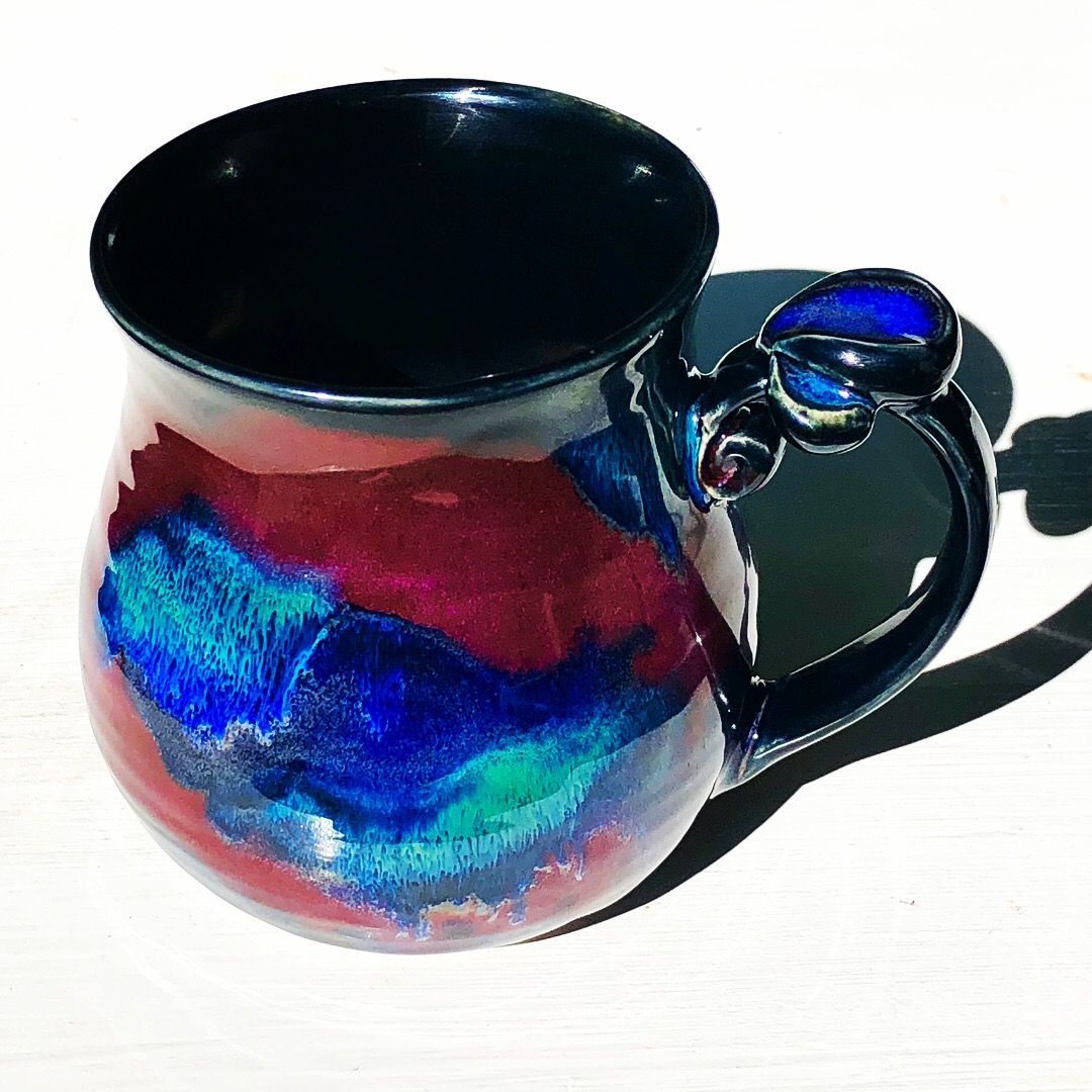 Best 12 obsidian x 3 all over smokey merlot x 2 middle seaweed x 2 upper – SkillOfKing.Com #potteryglazes