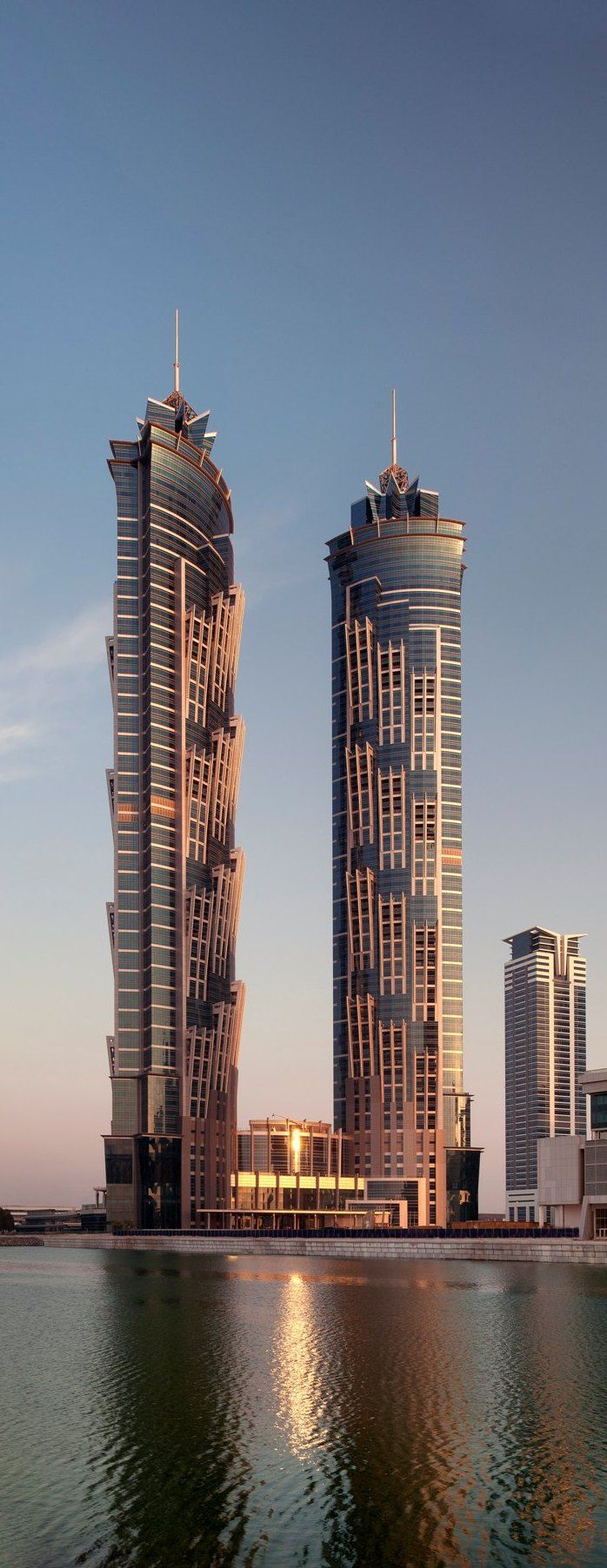 Jw Marriott Marquis Hotel Dubai Uae By Archgroup Consultants 82 Floors Height 355m Architecture Dubai Architecture Skyscraper Architecture Skyscraper