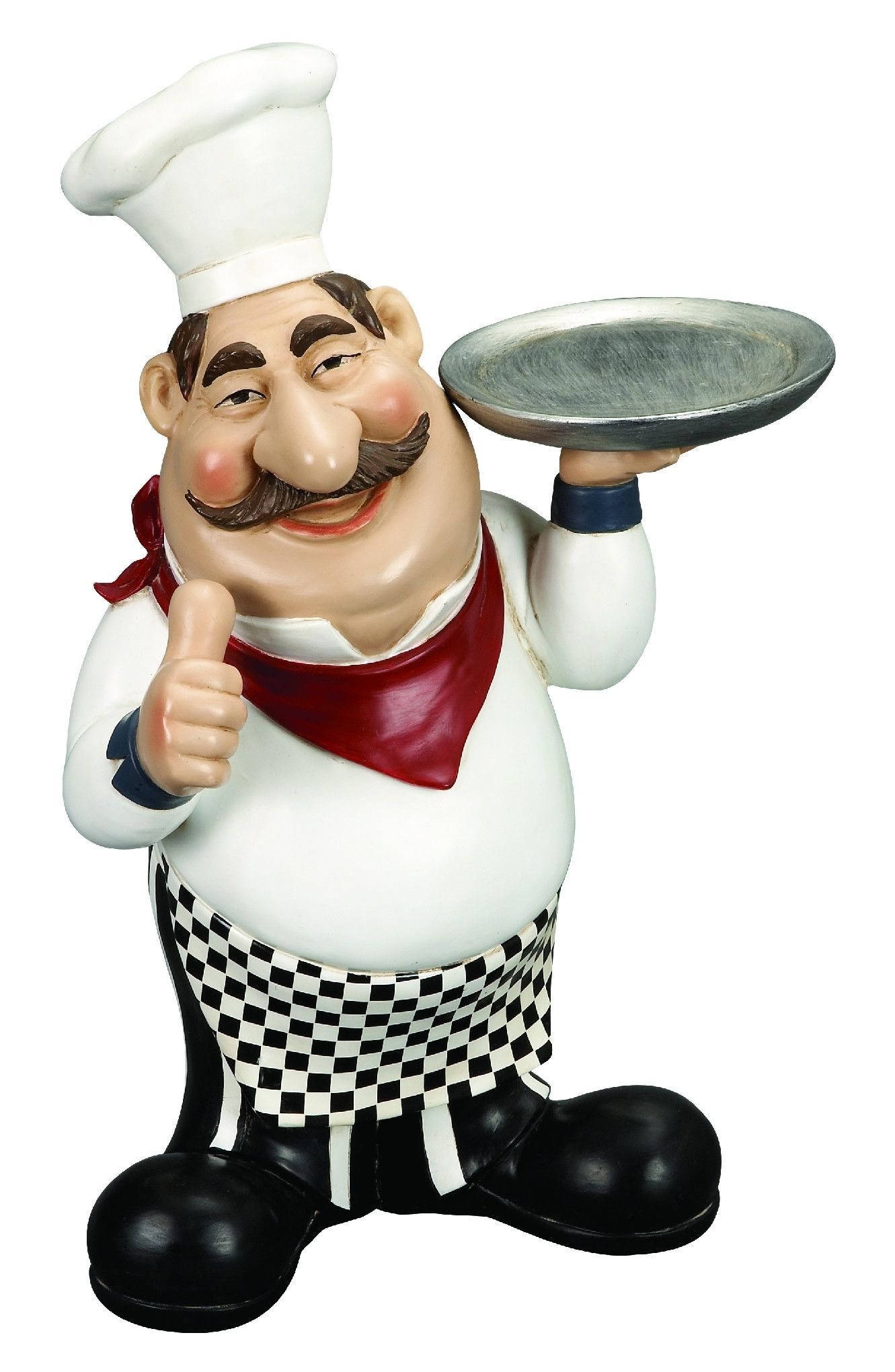 Polystone Chef With Plate A Restaurant Decor | Products | Pinterest ...