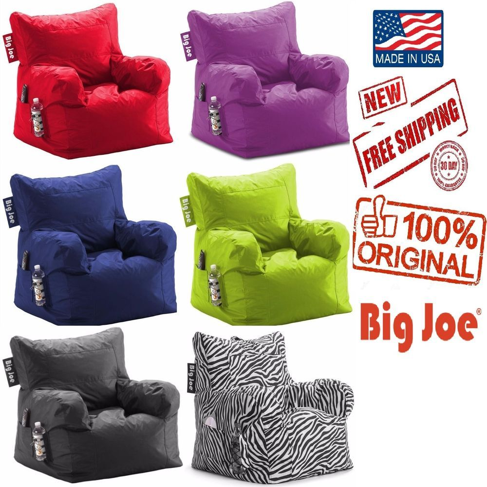 Bean Bag Chair Big Joe Dorm Kids Seat Furniture Teen TV Video Games Room  Lounge #BigJoe