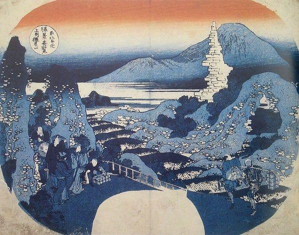 日本江户时代的浮世绘画家葛饰北斋在他80多岁时创作的作品。